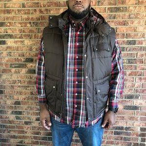 Big & Tall Brown Gap Full Zip Puffer Vest 3XL
